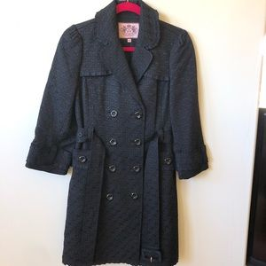 Juicy Couture Jackets & Coats - Juicy Couture Double Breasted Textured Trench Coat